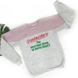 Vintage 1992 colorblock grandma sweatshirt 1990s